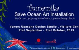Tsunamika Save Ocean Art Installation