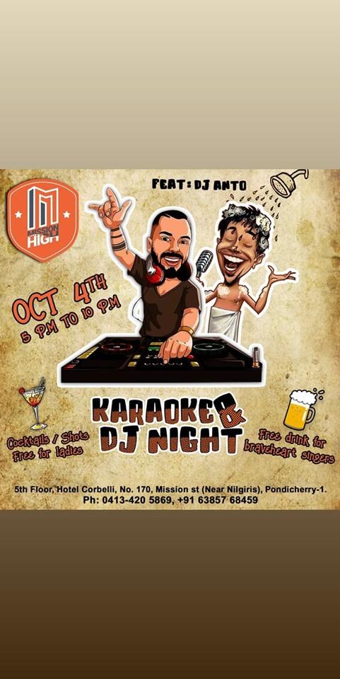 Karaoke&djnight @missionhigh