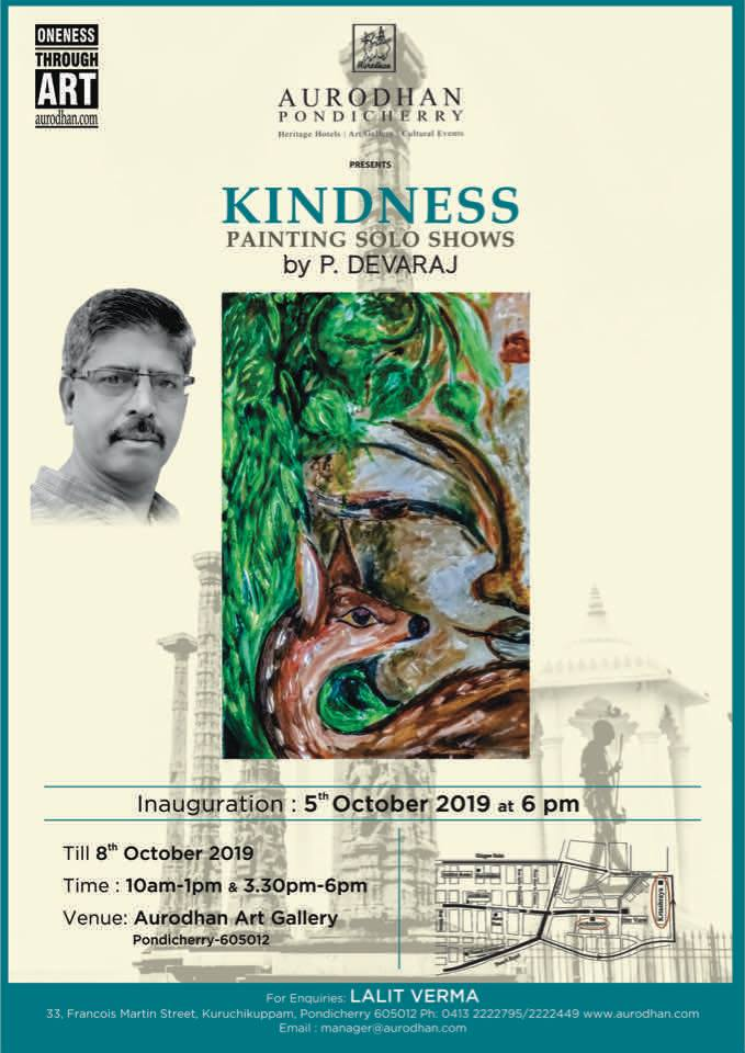 Aurodhan art Gallery presents its 107th Show in 2019 called Kindness by C.Madhivananan