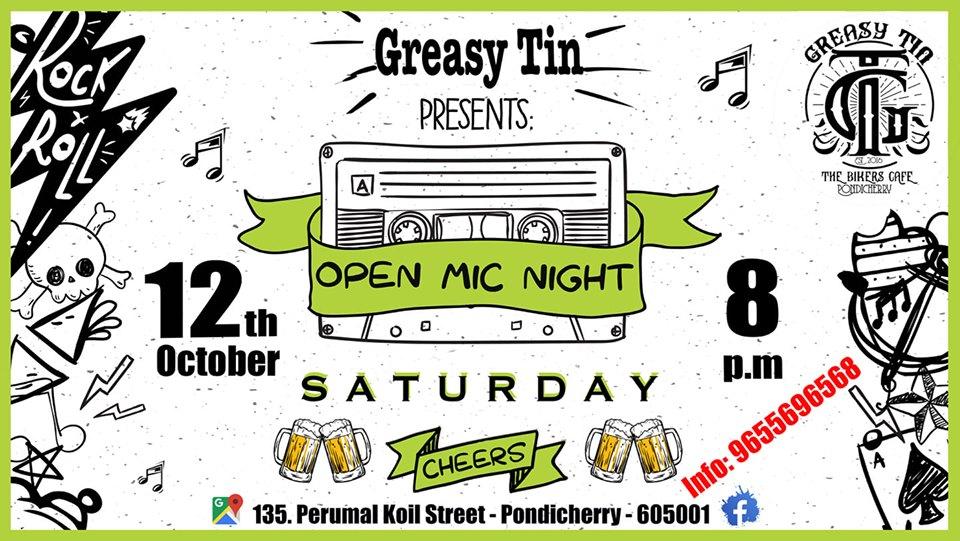 Open Mic Night @The Greasy Tin