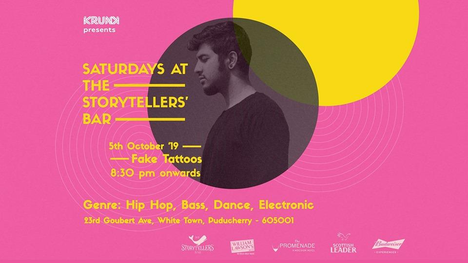 Saturdays ft Fake Tattoos at The Storyteller's Bar | Pondicherry