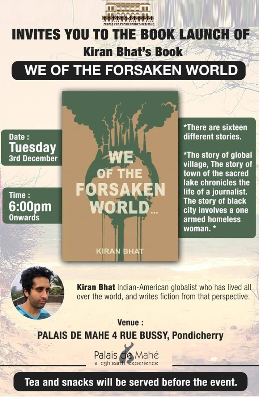 "Book Launch of ""We of the Forsaken World "" by Kiran Bhat ."
