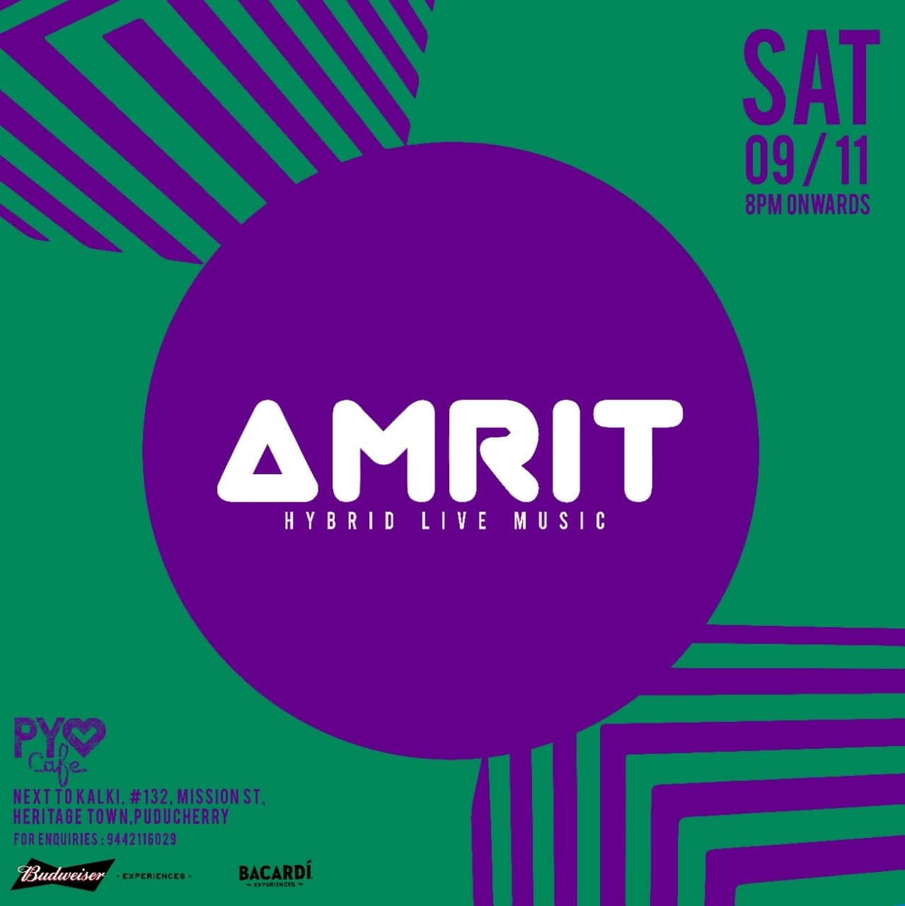 AMRIT Hybrid Live Music at PY Cafe.