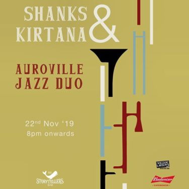 This Friday we have fun gig with Auroville Jazz Duo Kirtana and Shanks