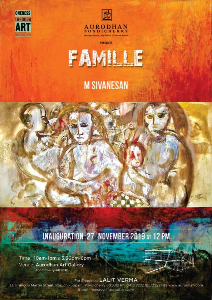 Famille by eminent artist M.Sivanesan .