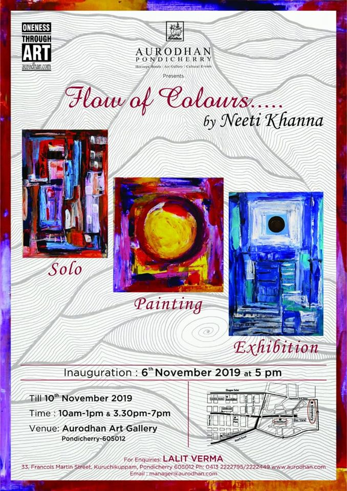 "Aurodhan art gallerry presents ""Flow of Colours""by Neeti Khanna"