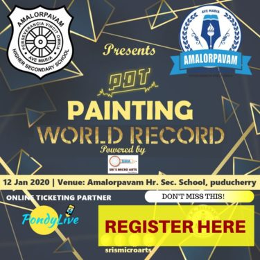register here for pot painting world record in pondicherry January 2020