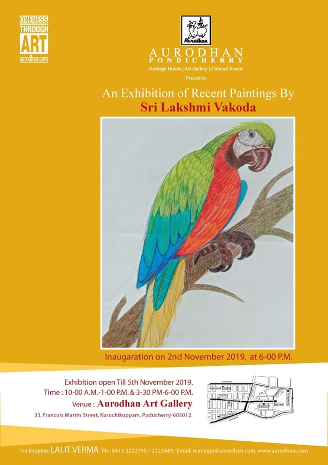 Aurodhan art gallery presents recent paintings by Laxmi Vakoda .