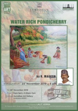 Aurodhan Art Gallery presents an artist's perspective of Water Rich Pondichery .