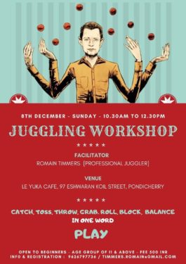 juggling workshop by Romain Timmers