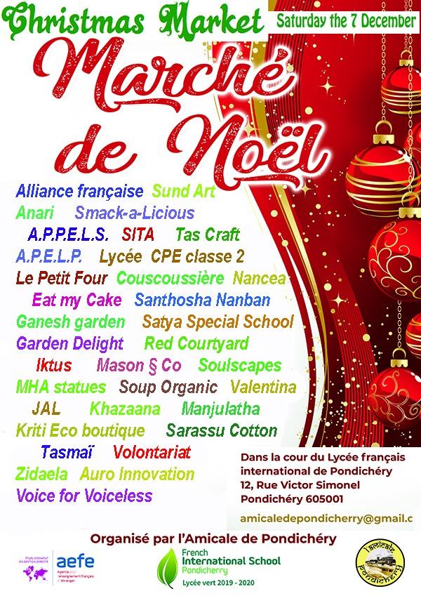 christmas market Marche de noel pondicherry