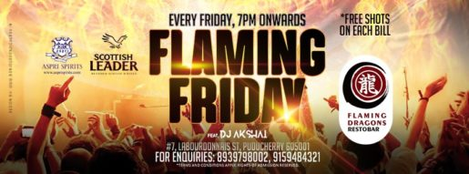 Flaming Friday on every Friday at Flaming Dragons