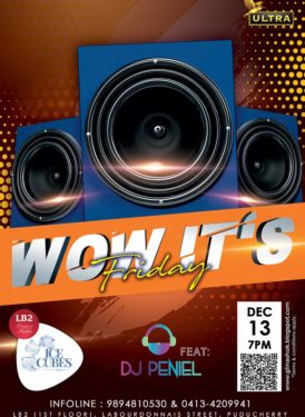 Wow, It's Friday at Ice Cubes Club (LB2 Lounge) on - 7pm onwards with DJ PENIEL