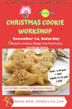 christmas cookie workshop by smackalicious and pondylive in pondicherry