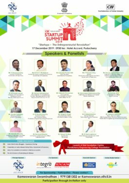 cii puducherry startup summit 2019 in puducherry