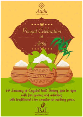 Pongal Celebration in Pondicherry at Atithi Pongal Celebration at Atithi with Fun Games and Activities .