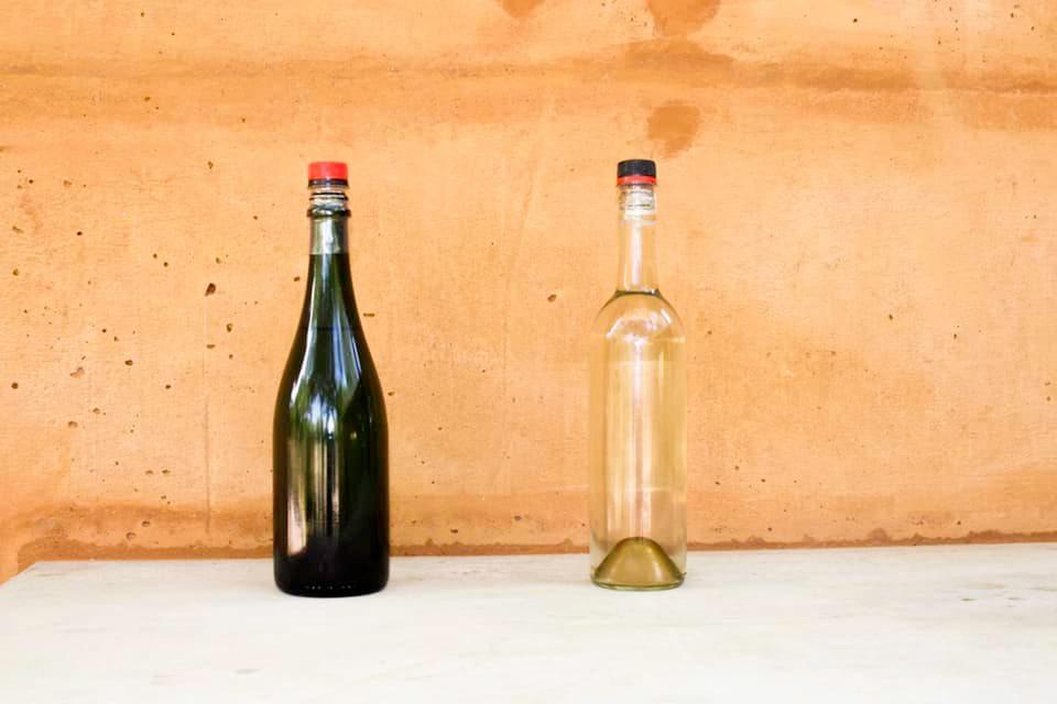 Drinking glass bottle and wallet in tetrapaks Workshop