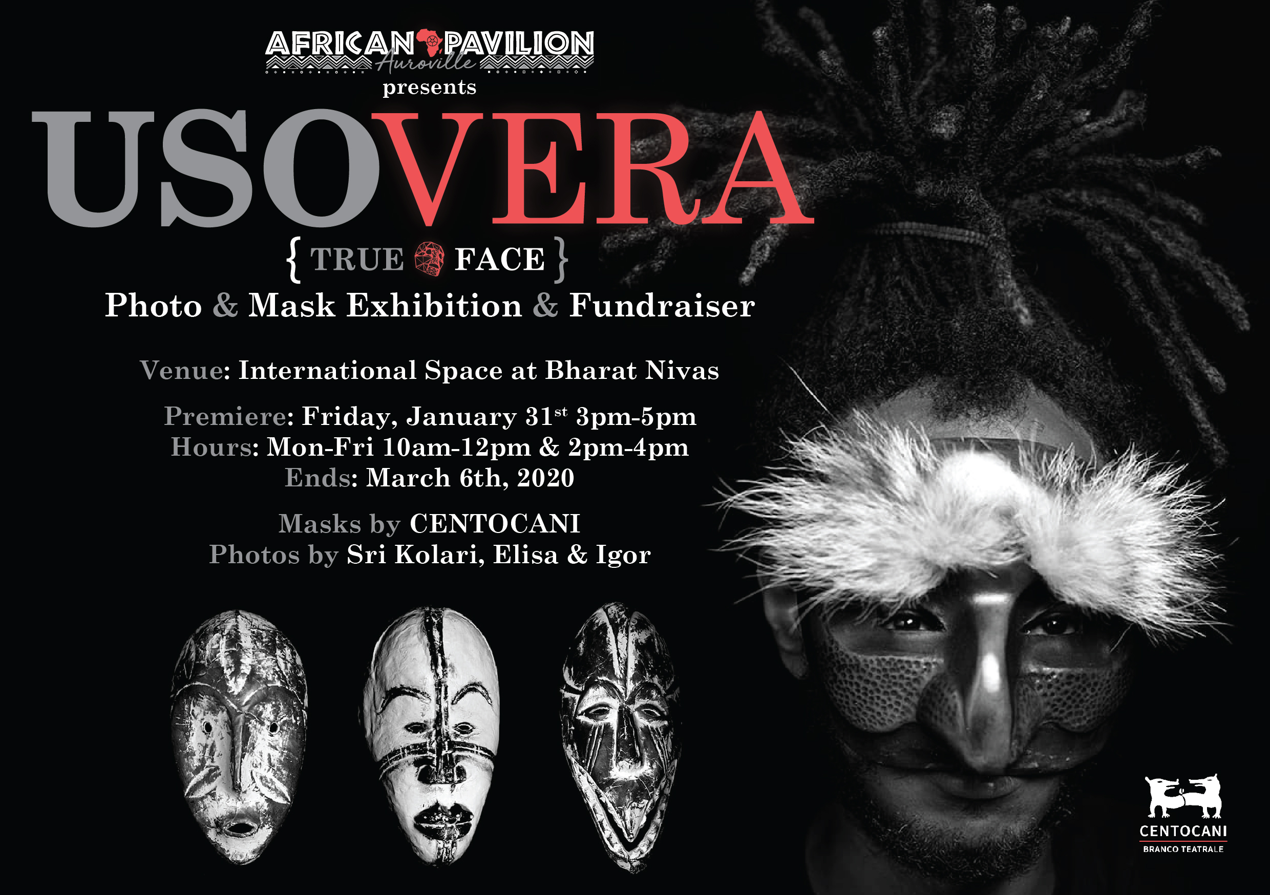 African Pavilion Auroville is holding a Photo & Mask Exhibition