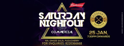 Saturday Nightout - Commercial DJ night on 25 January