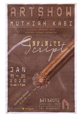 infinityscript art show by Muthiah by art brute