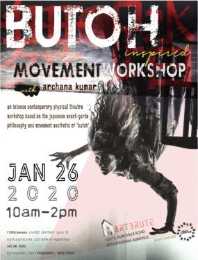 BUTOH inspired Movement Workshop at Art Brute