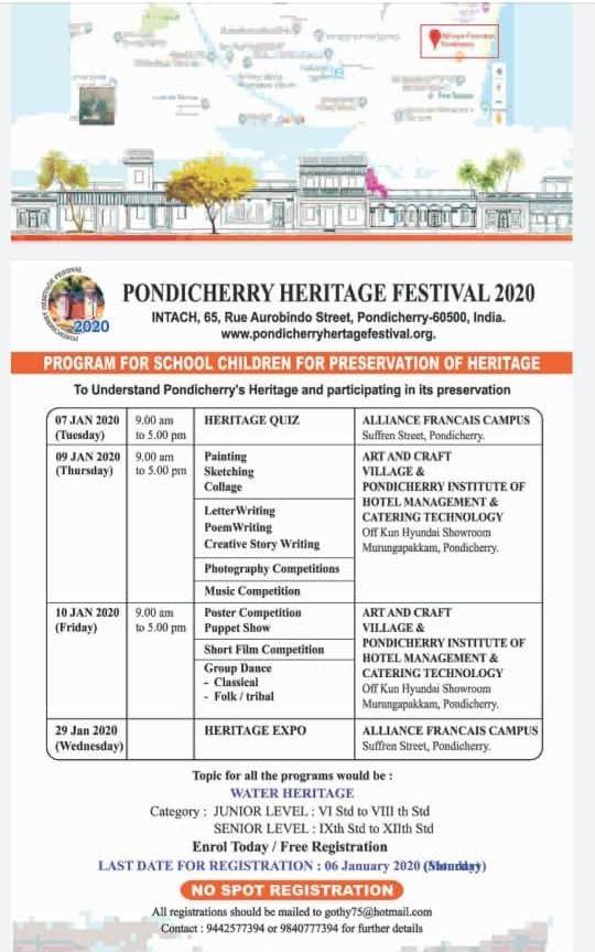 Pondicherry Heritage Festival Programme for Children