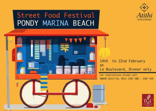Street Food Festival at hotel atithi in pondicherry