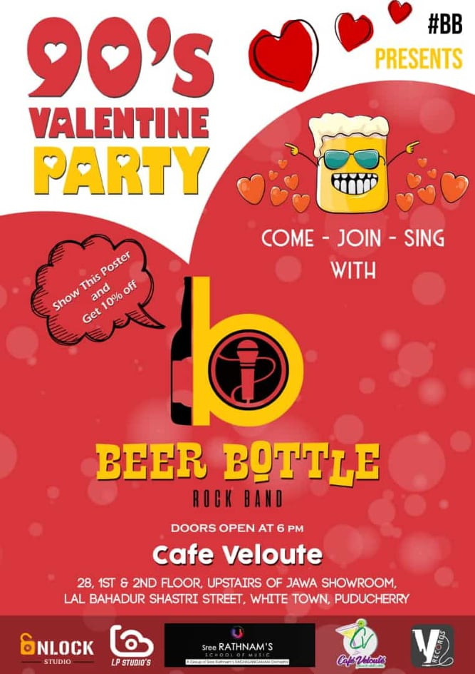 90's Valentines Party at Cafe Velloute