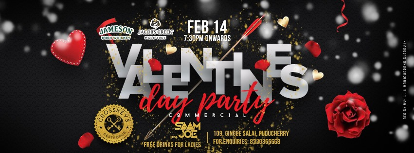 Valentines Day Party - Commercial, feat. DJ Saam Joe on 14 Feb